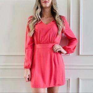 {RBL} Pink Long Sleeve Mini Dress